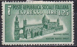 Repubblica Sociale Italiana, 1944 - 1,25 Lire Espresso - Nr.E23 MLH* - 4. 1944-45 Repubblica Sociale