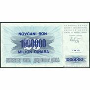 TWN - BOSNIA-HERZEGOVINA 35a1 - 1000000 1.000.000 Dinara 1.9.1993 Various Prefixes UNC - Bosnia Erzegovina
