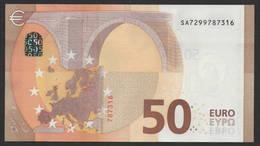 """50 EURO ITALIA  SA  S016  Ch. """"29""""  - DRAGHI   UNC - EURO"""