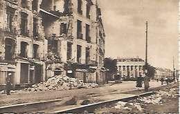 Cpa 44 Nantes Après Les Bombardements , Ww2 , Maison Des Tourelles Entrée Quai De La Fosse - Nantes