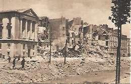 Cpa 44 Nantes Après Les Bombardements , Ww2 , Le Quai Brancas - Nantes