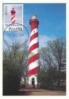 D35863 CARTE MAXIMUM CARD 2014 NETHERLANDS - BURGH HAAMSTEDE PHARE VUURTOREN LIGHTHOUSE CP ORIGINAL - Lighthouses