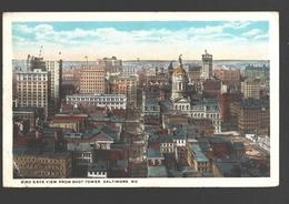 Baltimore - Bird's Eye View From Shot Tower - 1921 - Baltimore