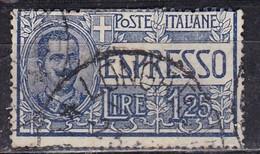 Regno D'Italia, 1925/26 - 1,25 Lire Espresso, Vittorio Emanuele III - Nr.E12 Usato° - 1900-44 Vittorio Emanuele III
