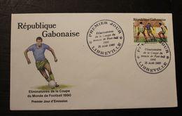 Enveloppe 1° Jour GABON Eliminatoires Coupe Du Monde  De Foot 23 AOUT 1989 - Gabon (1960-...)