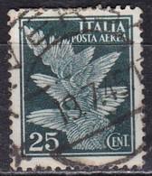 Regno D'Italia, 1930 - 25c Posta Aerea - Nr.A12 Usato° - 1900-44 Victor Emmanuel III.