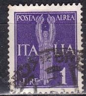 Regno D'Italia, 1930 - 1 Lira Posta Aerea - Nr.A16 Usato° - 1900-44 Victor Emmanuel III.