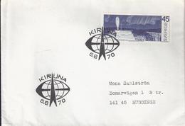 Sweden 1970 Northern Sweden - Arctic Circle Area. Northern Lights Exploration, Rocket Launch, Mi 680 FDC Kiruna - Schweden