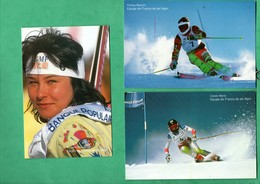 Sports D ' Hiver Equipe De France De Ski 1992  Lot De 10 Cartes Postales De Skieurs Nommés Voir 8 Scans - Sports D'hiver
