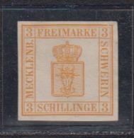 Mecklenburg-Schwerin MiNo. 2b (*) , Farbfrisch, Ungebraucht Ohne Gummi (70.-) - Mecklenbourg-Schwerin