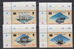 Falkland Islands 1986 Ameripex / Ss Great Britain 4v (corners) ** Mnh (41728C) - Falklandeilanden