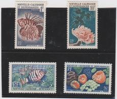 NOUVELLE CALEDONIE Sèrie Complète Année 1959 4 T Neufs Xx  N°YT 291 à 294 - Coraux Et Poissons - Neukaledonien