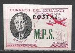Ecuador 1949. #G (M) Roosevelt, M.P.S. * - Equateur
