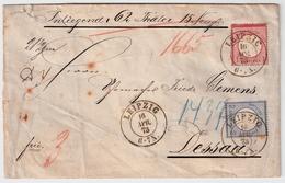 """1873, Wert-Bf. """" Leipzig """"  , #a1825 - Deutschland"""
