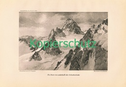 100 E.T.Compton Piz Buin Panorama Silvretta Druck 1914 !! - Drucke