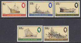 Falkland Islands 1982 Shipwrecks 5v ** Mnh (41729) - Falklandeilanden