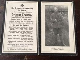 Sterbebild Wk1 Ww1 Bidprentje Avis Décès Deathcard IR10 Schütze Aus Silbersbach - 1914-18
