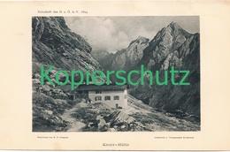 101 E.T.Compton Knorrhütte Berge Lichtdruck 1894 !! - Drucke