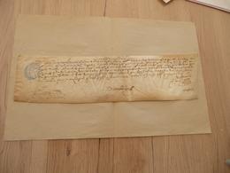 Frontignan Parchemin Manuscrit Appel Parlement De Toulouse Jacques Bonniol F.DE Chardolair Cachet Ordre De Malte Illisib - Documentos Históricos