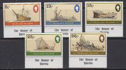 """Falkland Islands 1982 Shipwrecks 5v """"House Of Questa"""" In Margin ** Mnh (41729A) - Falklandeilanden"""