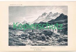 105 E.T.Compton Heidelberger Hütte Lichtdruck 1894 !! - Drucke