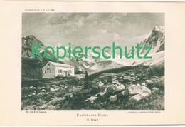 106-2 E.T.Compton Karlsbader Hütte Lienz Lichtdruck 1894 !! - Stampe