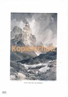 108-2 E.T.Compton Cimon Pala Rollepass Farbdruck Kunstblatt 1905 !!! - Drucke