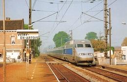 Vitry En Artois - Passage Du TGV Nord En Gare - Rame N'522, Train 7151 Pour Valenciennes - Photo Maurice Bernacki - Vitry En Artois