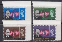 Falkland Islands 1966 Sir Winston Churchill 4v (corners) ** Mnh (41730A) - Falklandeilanden