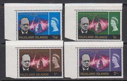 Falkland Islands 1966 Sir Winston Churchill 4v (corners) ** Mnh (41730B) - Falklandeilanden