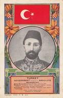 King Of Turkey & Flag , 1909 ; Abdul Hamid - Turkey