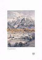 112  E.T.Compton Hall Bettelwurf Karwendel Farbdruck 1907 !! - Prints