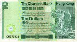 HONG KONG -The Charterd Bank - 10 Dollars - 1er Janvier 1981 - Série CH 232928 - P. Circulé - Hong Kong