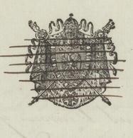 Altkirch 1814 Héraldique Rayé 'Décès Berentzwiller Le Receveur - Documents Historiques