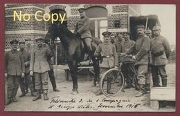 """Weert St-Georges = Sint-Joris-Weert Belgien Foto Kaart Deutsche Soldaten Krieg 14-18 """" Landsturm Inft. Batl. Chemnitz """" - Belgique"""