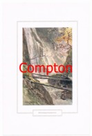 118 E.H.Compton Wimbachklamm Berchtesgaden Farbdruck Ca. 1921 !!! - Prints