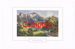 121 E.T.Compton Göll Brett Jenner Berchtesgaden Farbdruck Ca. 1921 !!! - Prints