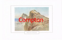 124 E.T.Compton Watzmann Hocheck Berchtesgaden Farbdruck Ca. 1921 !!! - Prints