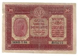 Cassa Veneta Dei Prestiti - Austrian Occupation Of Venice - 20 Lire 1917 CVP - [ 3] Military Issues