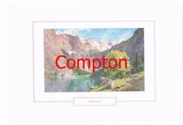126 E.H.Compton Obersee Berchtesgaden Farbdruck Ca. 1921 !!! - Prints