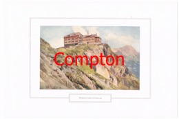 127 E.T.Compton Watzmannhaus Berchtesgaden Farbdruck Ca. 1921 !!! - Decretos & Leyes