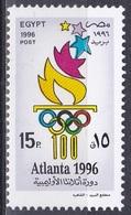 Ägypten Egypt 1996 Sport Spiele Olympia Olympics IOC Atlanta Fackel Torch Ringe Sommerspiele, Mi. 1876 ** - Ägypten