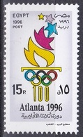 Ägypten Egypt 1996 Sport Spiele Olympia Olympics IOC Atlanta Fackel Torch Ringe Sommerspiele, Mi. 1876 ** - Ungebraucht