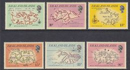 Falkland Islands 1981 Early Maps 6v ** Mnh (41732) - Falklandeilanden