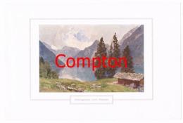 128 E.H.Compton Königssee Berchtesgaden Farbdruck Ca. 1921 !!! - Drucke