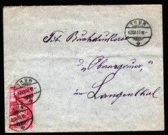 A5811) Schweiz Brief Thun 17.12.1900 N. Langenthal M. EF Mi.72 - 1882-1906 Armoiries, Helvetia Debout & UPU