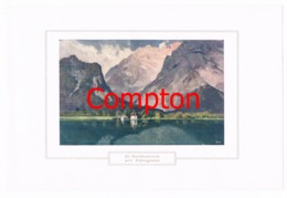 129 E.H.Compton St. Bartholomä Berchtesgaden Farbdruck Ca. 1921 !!! - Prints