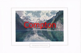 131 E.H.Compton Königssee Malerwinkel Berchtesgaden Farbdruck Ca. 1921 !!! - Prints