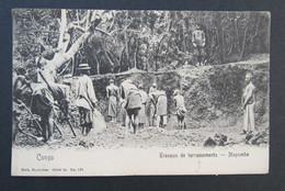 Cpa/pk Congo Mayumbe Travaux De Terrassements - Congo Belge - Autres