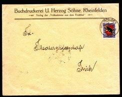 A5812) Schweiz Brief Rheinfelden 12.12.21 M. EF Mi.173 Pro Juventute - Pro Juventute